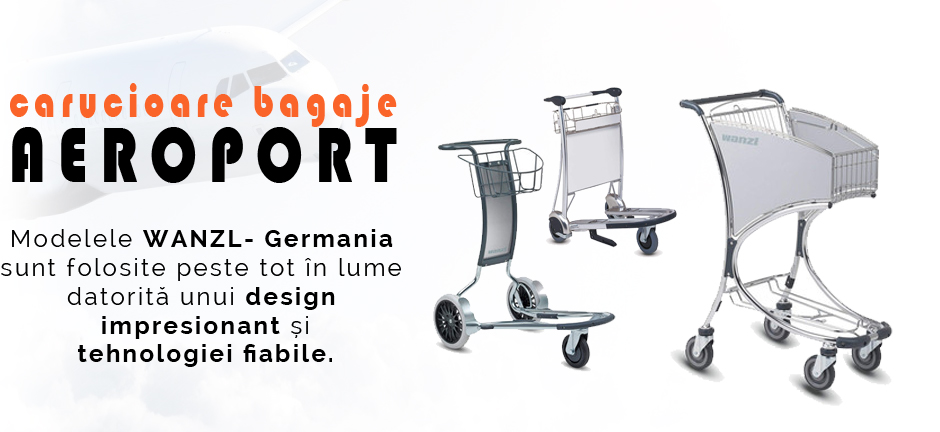 Carucioare bagaje aeroport